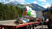 Road freighting a helicopter