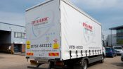 Soft sided open loading freight van
