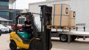 Materials handling training on forklift