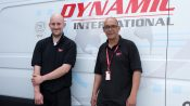 Freight transport staff by van