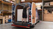 Loading freight van inside warehouse
