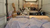 Film production props inside van