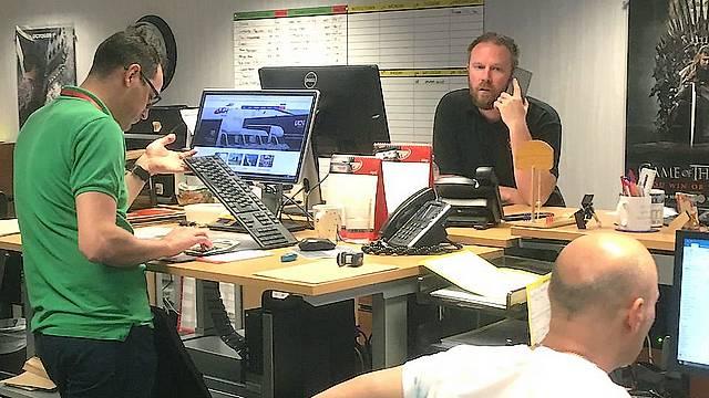 Staff in Dynamic International office